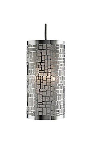 Lighting Collection 700033 - Lampadario a sospensione, per 1 lampadina da 40 W, struttura cromata non elettrificata