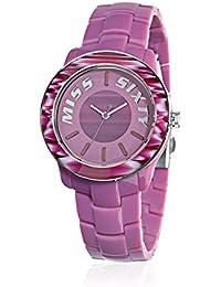 Miss Sixty R0753122502 - Reloj con correa de caucho para mujer, color rosa / gris