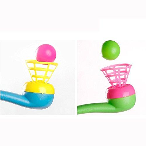 Qomomont pädagogisches Spielzeug, Blow Pipe & Balls - Pinata Toy Beute / Party Beutelfüller Hochzeit / Kinder, Perfektes Kindertagsgeschenk