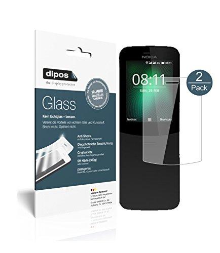 dipos I 2X Pellicola Protettiva Compatibile con Nokia 8110 4G Protezione Vetro Flessibile 9H