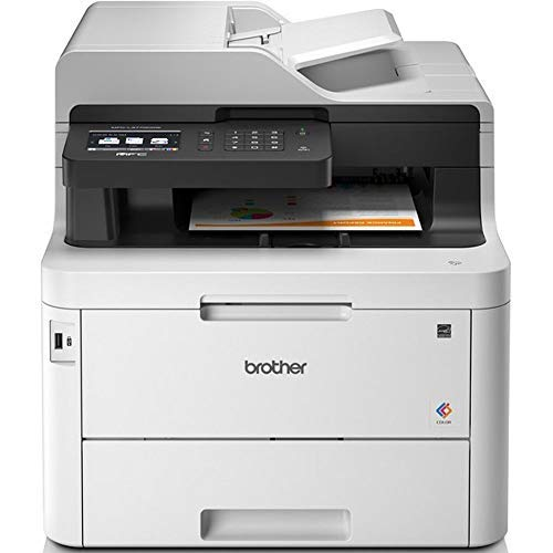 Brother MFC-L3750CDW Imprimante multifonctions 4 en 1 Laser |couleur | silencieuse 47db | Mémoire 512Mo|Wi-FI | 24ppm | impression recto-verso | Inclus 1 000 pages de Toner