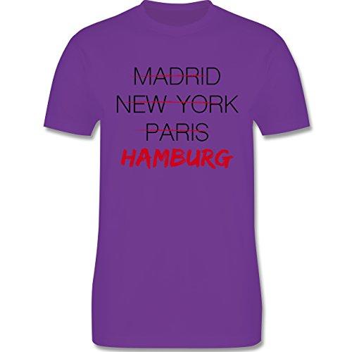Städte - Weltstadt Hamburg - Herren Premium T-Shirt Lila