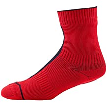 SealSkinz 111162060040 Calcetines Impermeables Unisex, Rojo/Negro, FR: XL (Talla Fabricante