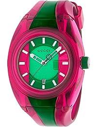Reloj Gucci Sync Mujer plexy Verde Rosa YA137115 f13614bcd5b