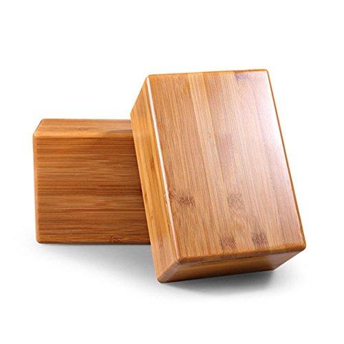 grofitness bambú Bloques para yoga ejercicio fitness deporte herramienta -- respetuoso con el medio ambiente y renovables corcho, morado