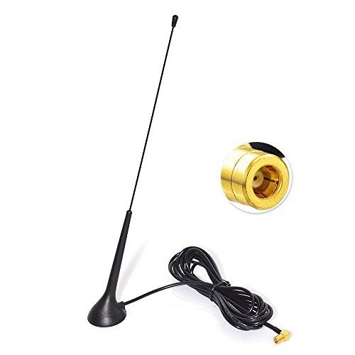 Eightwood DAB DAB+ Antenne Autoradio SMB Antenne (KFZ Magnetfußantenne) mit Antenne Extension Kabel...