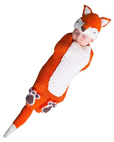 (Horror-Shop Gehäkelter Fuchs Baby Kostümsack als Faschings Verkleidung 0-3 Monate)