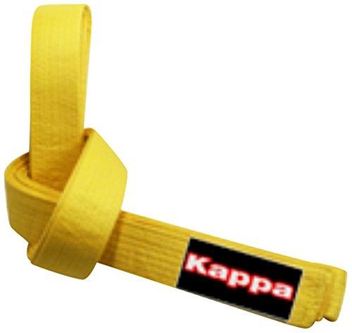Kappa4karate montreal, cintura karate-judo unisex – adulto, giallo, 1/240 cm