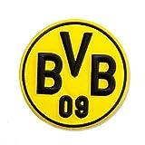 Borussia Dortmund BVB Aufnäher-3D, Polyester, Schwarz/Gelb, 10 x 10 x 1 cm