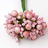 50PCS Hot Artificial Stamen Bud Bouque(Light Pink)