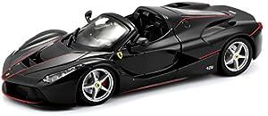 Bburago Maisto Francia 26022b-Vehículo en miniatura, Ferrari aperta, Escala 1/24, Negro