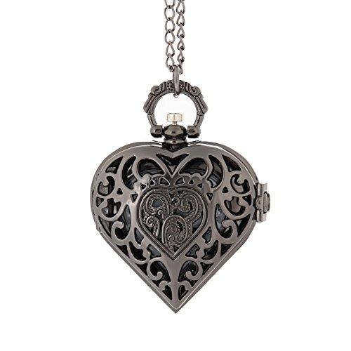 Reloj de bolsillo con forma de corazón