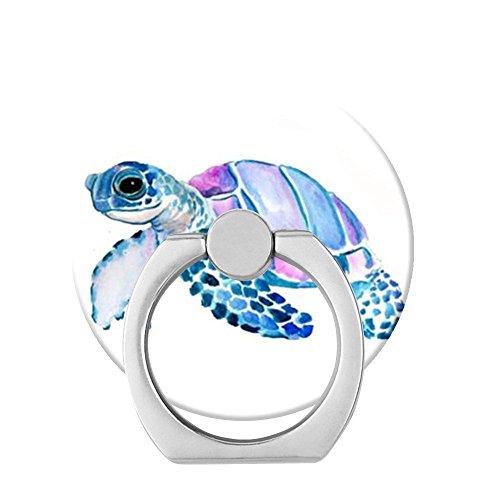 POPSWE Ständer, Metall-Halterung, Kfz-Halterung, 360Grad Handy Ring für iPhone, Handy-Ring Stent (Sockel Linke Hand)