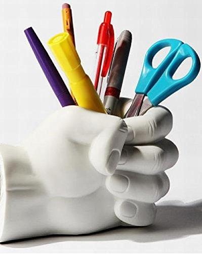 Desktop Pen Holder Stiftebox / Stiftablage / Stifthalter weisse Faust