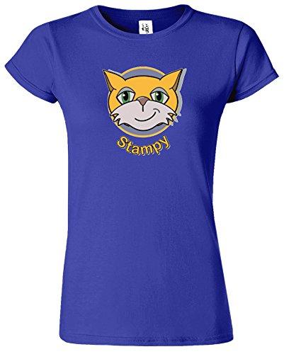 STAMPY Womens Inspired Pc Gamer T-Shirt Chat Visage Nez Cobalt