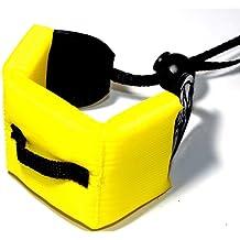 Maxsimafoto - Manguito flotador con correa para cámaras acuáticas Canon D20, D10, Nikon AW100, AW110, Sony Cybershot TX10, TX20, Panasonic Lumix DMC-FT4, Olympus µ (mju:) Tough TG-610, FUJIFILM FinePix XP10, XP20, XP30, XP150, Pentax Optio WG-1, WG-2 y WG-3, color amarillo