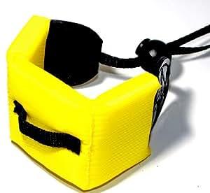 Maxsima - Yellow Floating strap for waterproof cameras, Canon D20, D10, Nikon AW100, AW110, Sony Cybershot TX10, TX20, Panasonic Lumix DMC-FT4, Olympus µ (mju:) Tough TG-610, FUJIFILM FinePix XP10, XP20, XP30, XP150, Pentax Optio WG-1, WG-2, WG-3.