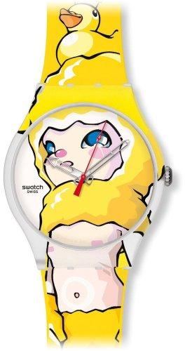 Swatch Mädchen-Uhren Ducky Brigade SUOZ113