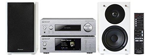 Pioneer P2-W Kompaktanlage (Stereo-Receiver, Netzwerk Player, 2 x 75 Watt, Direct Energy HD Endstufen, Wifi, Bluetooth) Silber/Weiß