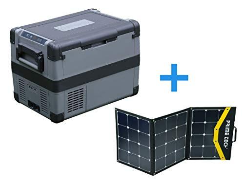 Prime Tech Kompressor-Kühlbox 60 Liter bis -20°C, 12/24 Volt 120WP Solar-Bundle