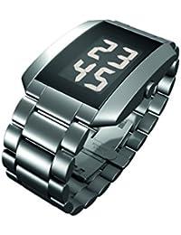 18b3ea323087 Rosendahl Watch III - Reloj digital de caballero de cuarzo con correa de  acero inoxidable plateada - sumergible a 50…