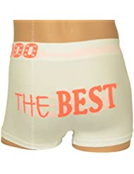 Boxer Fantaisie Homme, Blanc et Orange, The Best