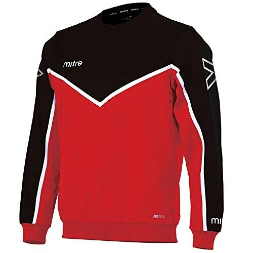 Mitre Men Primero Poly Football Training Sweatshirt - Scarlet Black White 7d96fbafea8d2