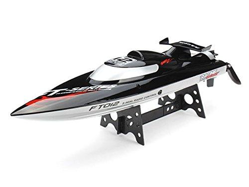 PREMIUM Ultraschnelles RC Motorboot Rennboot ferngesteuert (bis zu 45 km/h) Funksteuerung - hoher Spaßfaktor wie Kroko (Kostüm Spiel Kran Halloween)