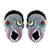 AimdonR Halloween Zombie Slipper, verrückte weiche Baggy Zombie Kopf, warme Paar Plüsch Baumwolle Haus Hausschuhe, seltsame Halloween Geschenk