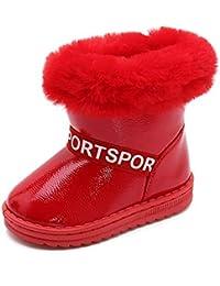 2019 Invierno niños y niñas más algodón Grueso Alto Top cálido Antideslizante Botas de Nieve Impermeable bebé Conveniente para Usar Zapatos al Aire Libre cómodos