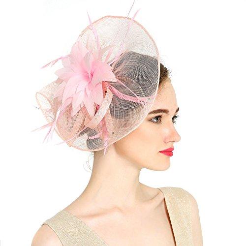 vkfashion encantador Sinamay boda Fascinator sombreros cóctel sombreros de fiesta