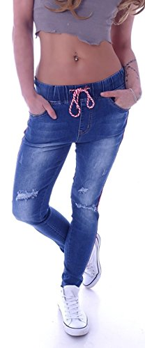 Sexy Damen Rock Jeans Minirock Hellblau Zipper Gogo M/38