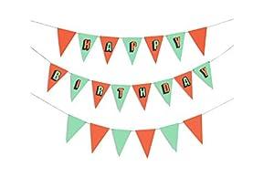 Doiy - Birthday Party Flags, banderolas para fiestas, multicolor (DYFLAGSBI)