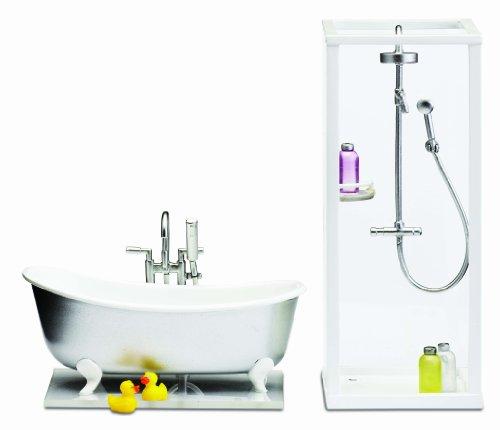 Lundby 60.2053.00 - Smaland: Dusche und Bad für Puppenhaus