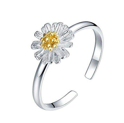 Und Kostüm Teenager Mutter Tochter - MSYOU Damen Ring mit Sonnenblume, kompakt, offen, mit Gänseblümchen, Chrysanthemen, Geschenk für Tochter, Teenager Mädchen