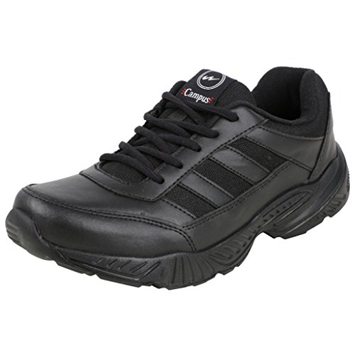Campus Men's Black Synthetic Leather Sports Shoes - 8