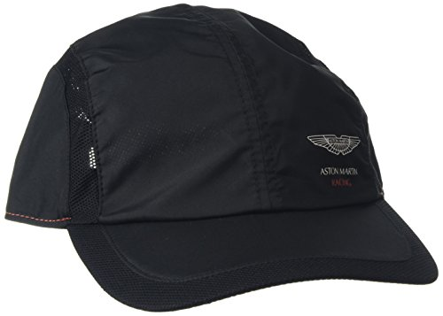 hackett-clothing-mayfair-microstructure-mesh-gorra-de-beisbol-hombre-negro-black-one-sizeuk