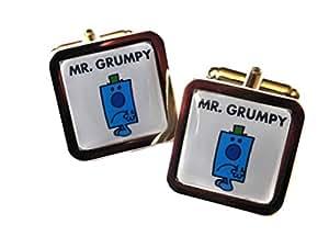 Mr Grumpy Chrome Cufflinks