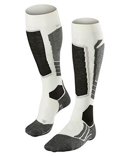 FALKE Damen Skisocken SK2 Wool, Merinowollmischung, 1 Paar, Weiß (Off-White 2040), Größe: 37-38