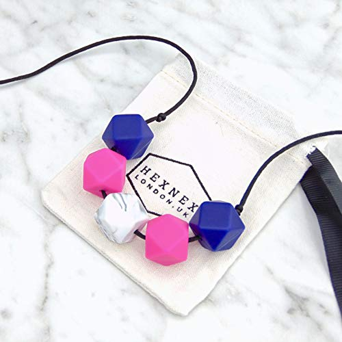 Navy and Pink Silicone Teething ...