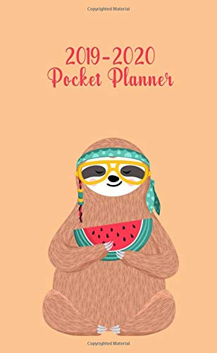 2019-2020 Pocket Planner: Two-Year Tribal Sloth Pocket Planner with Phone Book, Password Log and Notebook. Nifty 24 Month Agenda, Calendar and Organizer.