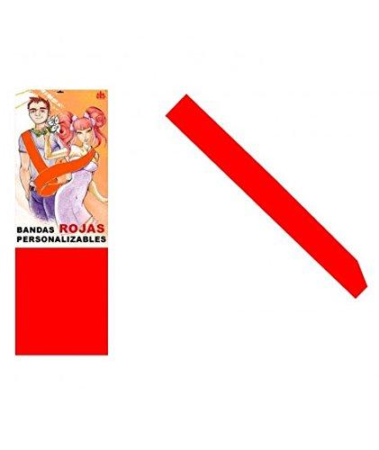 Banda Roja Personalizable para Fiestas