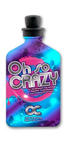 OC Oh So Crazy Mega Black 2in1 4 use with/without UV light 12oz by RSun Tanning