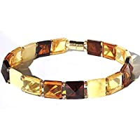 Multicolor Natural Amber Bracelet for Woman