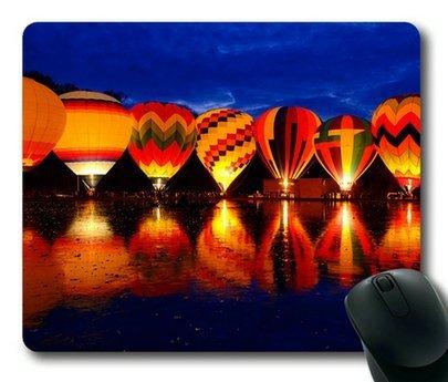 Balluminaria Hot Air balloon Glow festival Rectangle mouse pad by Sakuraelieechyan