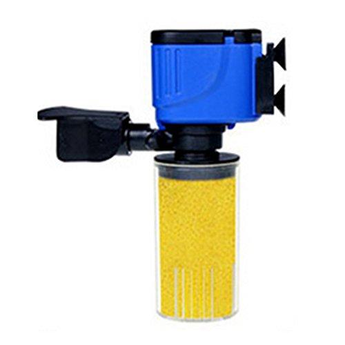 ZHIYANG 3 in 1 Aquarium Filter FischBehälter Unterwasser Sauerstoff Pumpe Spray (Aquarium Unterwasser-filter)