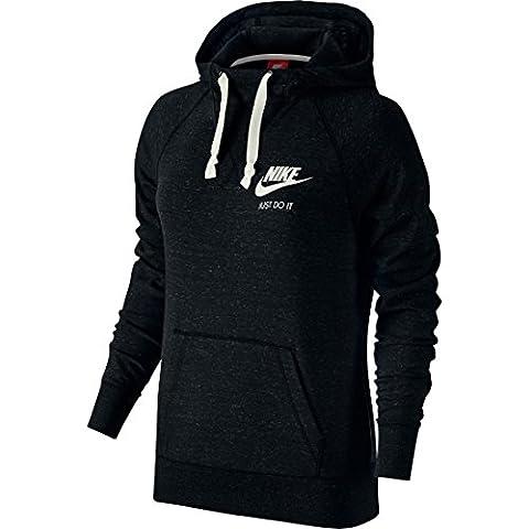 Nike Damen Shirt Gym Vintage, Black/Sail, S, 726059-010