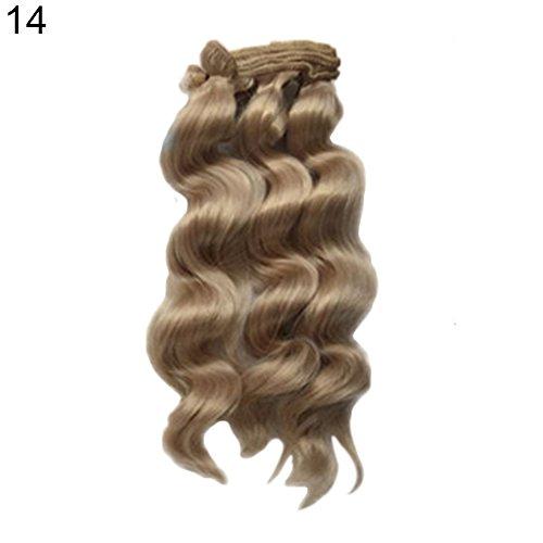 t so verschiedenen 15cm Perücke DIY lockiges Haar für Barbie Reparatur Zubehör Solid Color Kids Toys-11# ()