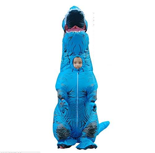 der Aufblasbare Dinosaurier-Kostüme, Zu Fuß Ist Sehr Einfach, Geeignet Für Die Höhe 120-150Cm,Blue ()