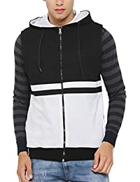 SayItLoud Solid Men Hooded Sweatshirt